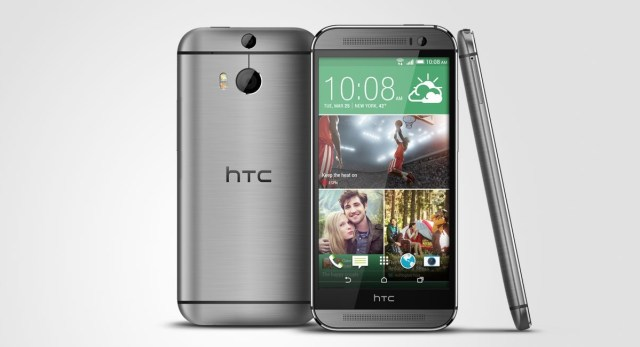 The HTC One (M8) from 2014, a sequel to the original One