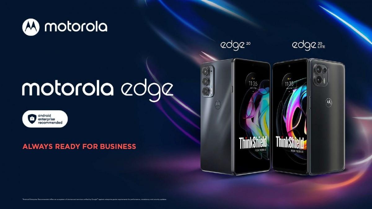 Motorola meluncurkan versi Edisi Bisnis dari Edge 20 dan Edge 20 Lite