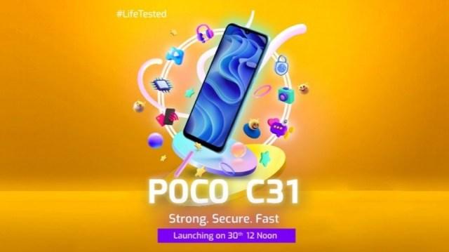 Poco C31's key specs confirmed ahead of September 30 unveiling