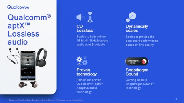 Qualcomm unveils aptX Lossless for Bluetooth devices