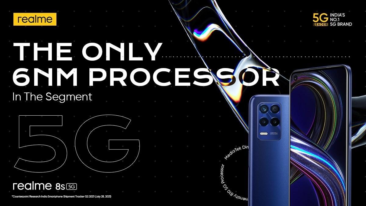 Opsi warna Realme 8s 5G secara resmi dikonfirmasi sebelum peluncuran 9 September