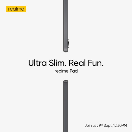 Realme Pad with thin and light design is coming on September 9