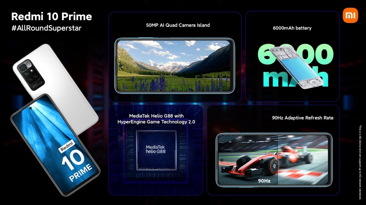 Redmi 10 Prime diumumkan dengan Helio G88 dan baterai 6.000 mAh