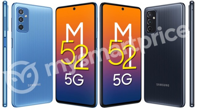 Samsung Galaxy M52 5G to have 120Hz display and patterned back design, renders show
