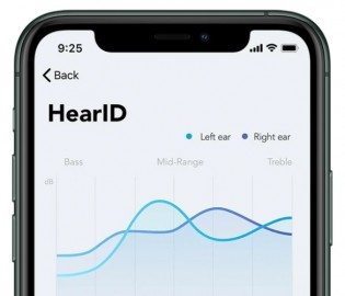 HearID tunes the sound profile to your hearing