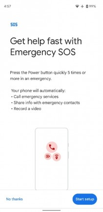 Emergency video recording in Personal Safety app (images: XDA Developers)