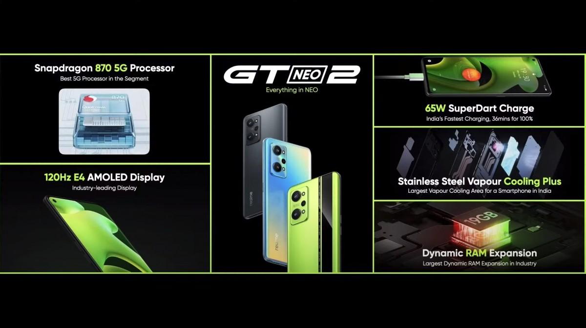 Realme GT Neo2 menjadi global dengan layar 120Hz dan Snapdragon 870, bergabung dengan produk gaya hidup AIoT