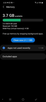 RAM Plus is now available on the Samsung Galaxy A52