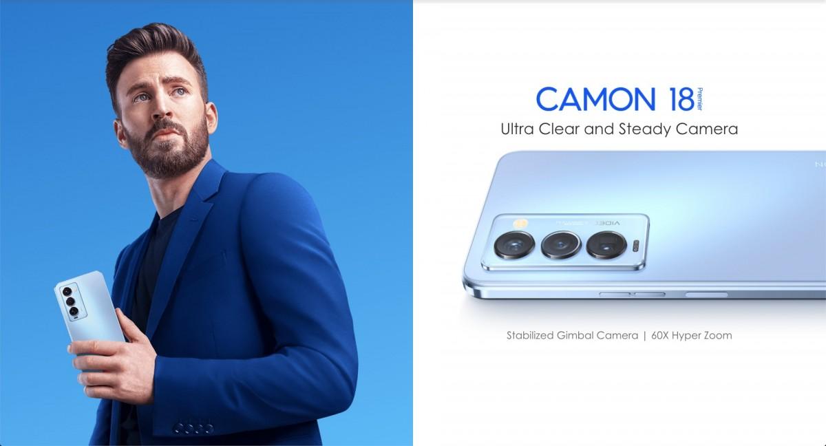 Tecno Camon 18 Premier menghadirkan layar AMOLED 120Hz, kamera gimbal, dan periskop