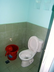 Rotary Chicago Far North donated funds to install two functioning latrines for Iligan Central Elementary School in 2014