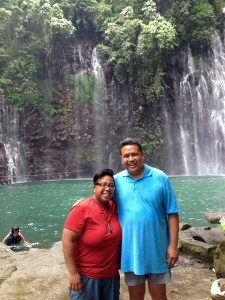 (left to right): E Armea and Dale Asis enjoying the awe-inspiring beauty of Tinago Falls, Iligan City