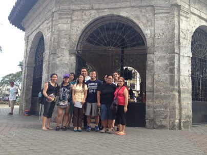2015 NEXTGEN Fellows visiting Ferdinand Magellan's Cross in Cebu City. The crucifix contains remnants from Magellan's cross planted on Cebu in 1521.