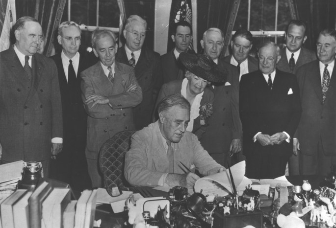 FDR Signs GI Bill