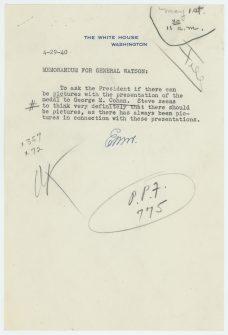 4-29-40, Memorandum for General Watson
