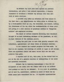 Sara Delano Roosevelt Mother's Day Address 1934
