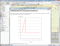 Simulación dinámica de incendios mediante FDS. Temperatura en rociador automático