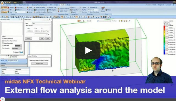Simulate external flow around a model using CFD Analysis
