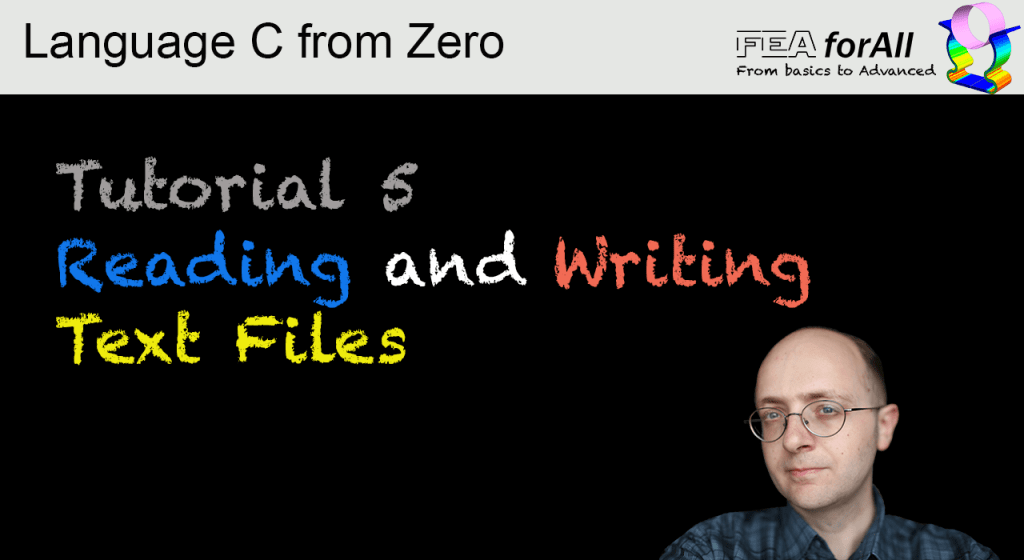 Tutorial 5 Reading and Writing to Files – Language C from Zero