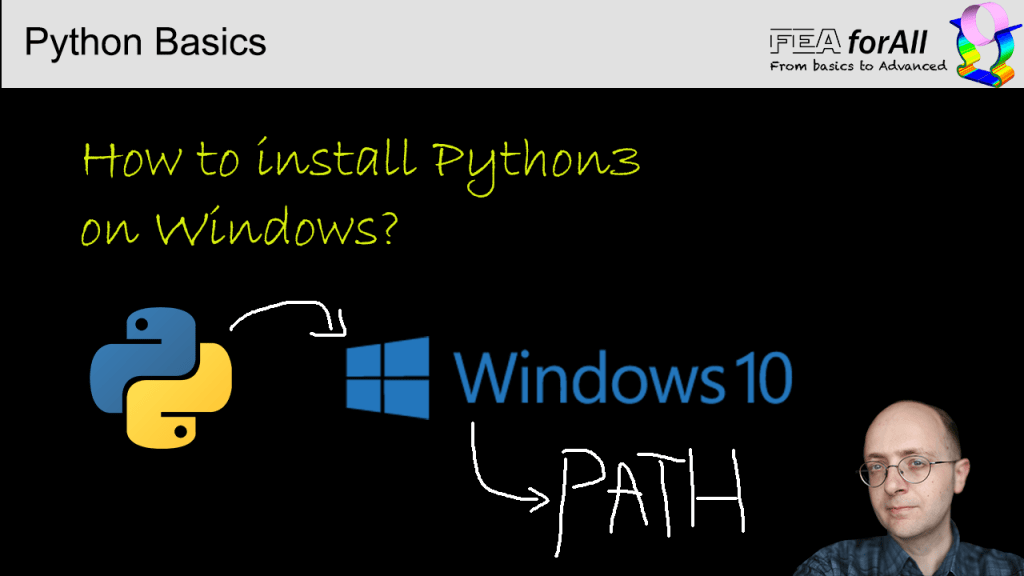 How to install python 3 on windows and set the path