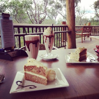 Morning tea at Skybury Coffee
