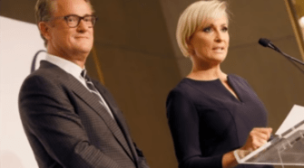 Morning Joe fakes their black Friday 'live' show. The photo was captured from the video.
