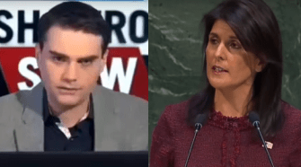 Ben Shapiro and Nikki Haley. Photo compiled from the videos.