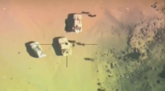 Air-raid on ISIS. Photo from the video.
