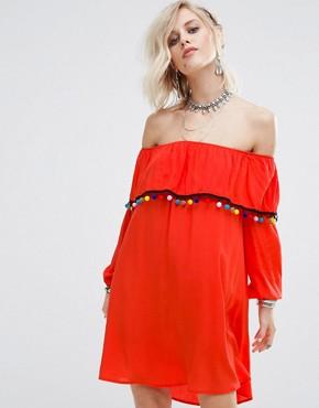 pompom dress