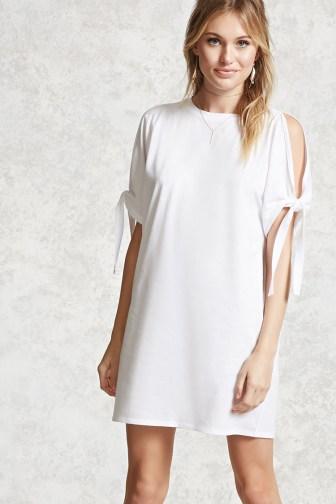 white tshirt dress
