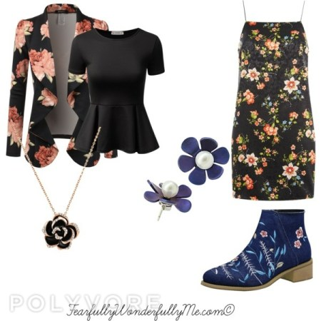 Midnight Floral fall fashion