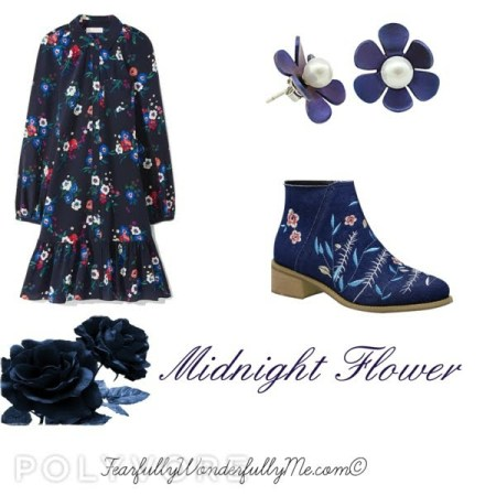 holiday fashion-midnight flower