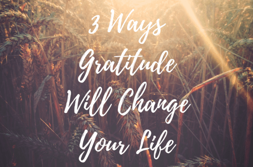 3 Ways Gratitude Will Change Your Life