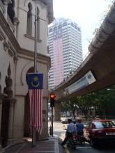 Malaysian flags errywhere