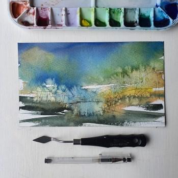 Watercolor setup