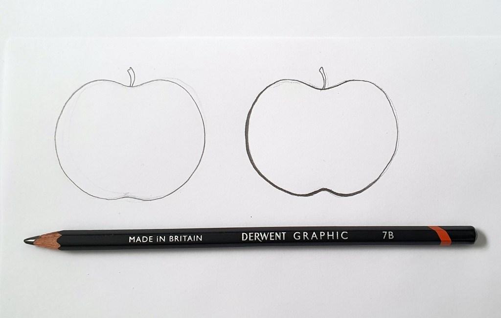 Pencil drawing tutorial example