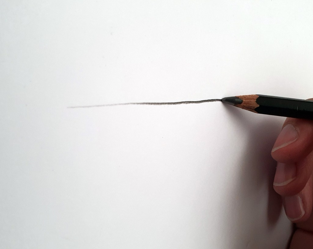 Pencil line thickness example