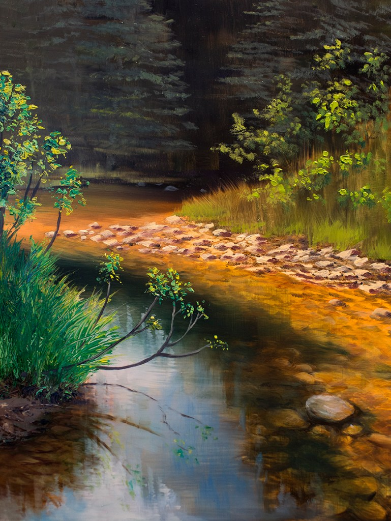 Summer River oil painting by Sarah Burns
