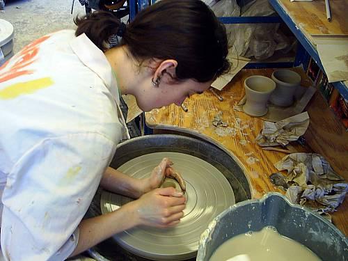 Sarah at 2004 Ceramics class