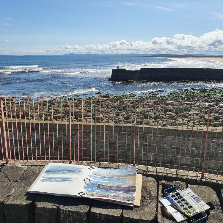 Painting on the coast