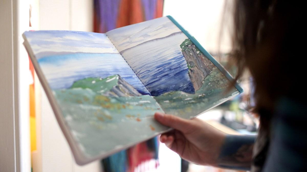 Landscape painting #sarahburnstutor