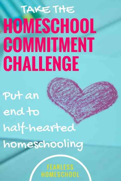 Homeschool Commitment Challenge