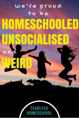We're proud be so homeschooled, unsocialised and weird-Fearless Homeschool