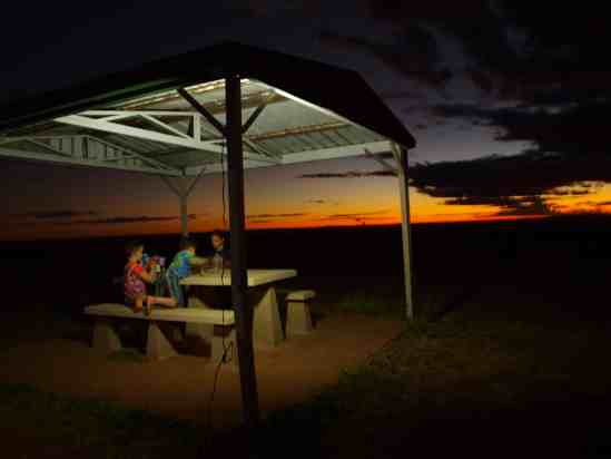 Dinner in the outback