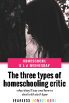 The Homeschooling Criticism Series – The Three Types of Homeschooling Critic