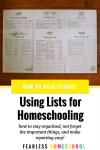 How to use lists in your homeschool