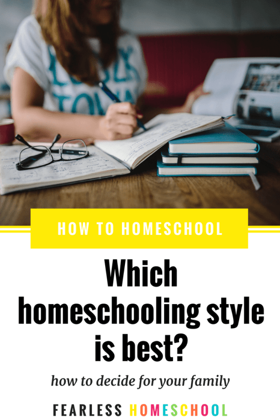 How to choose the best homeschooling style for your family