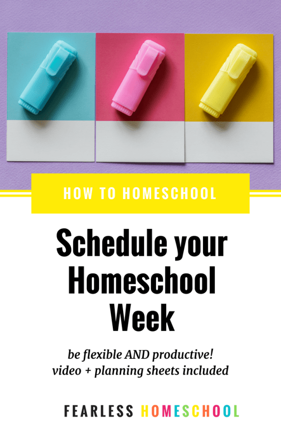 How to create a homeschool schedule that's flexible AND productive