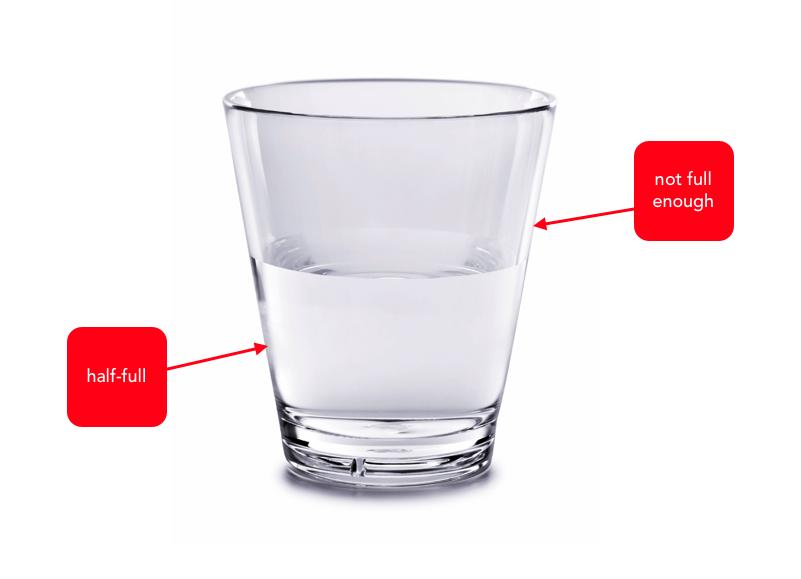 Image result for glass half full