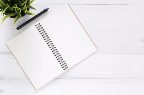 blank notebook for planning