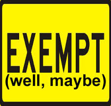 exempt well maybe